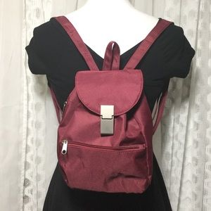 Burgundy vintage 90s mini backpack